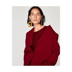 Zara yellow square earrings